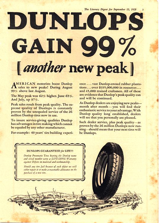 Dunlop Tires 1928 0002