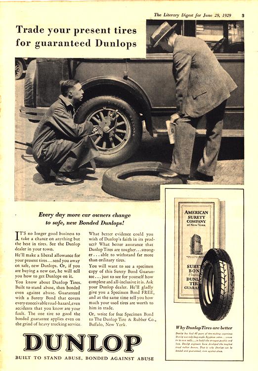 Dunlop Tires 1929 0001