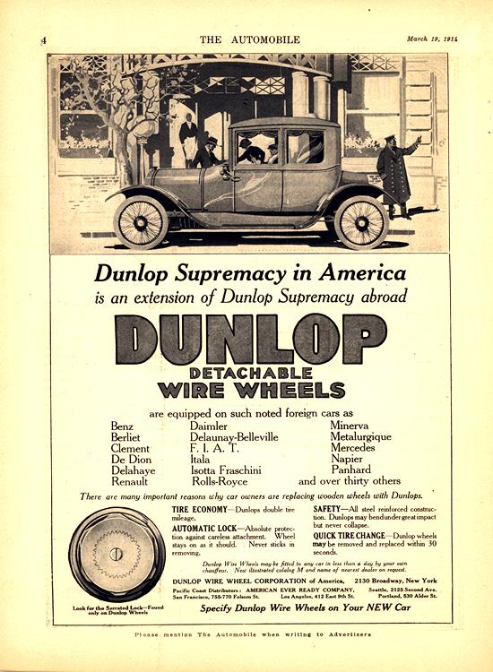 Dunlop Wire Wheels 1914 0001