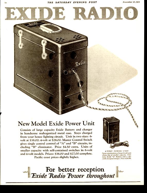 Exide Radio 1927 0003