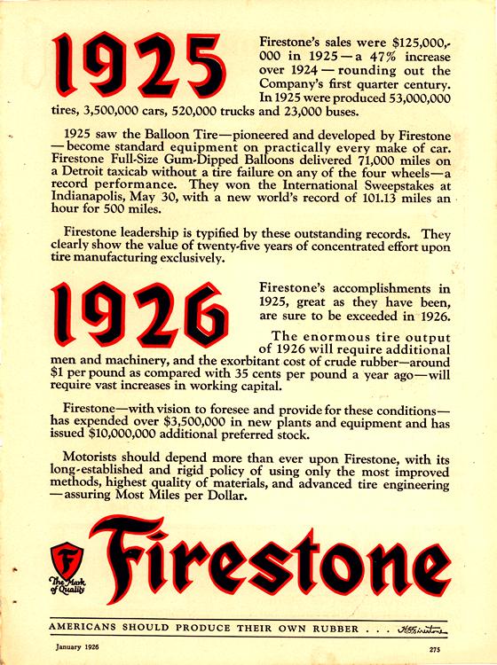 Firestone Tires 1926 0001