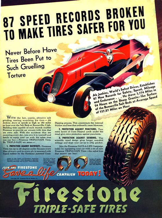 Firestone Tires 1927 Ab Jenkins 0001