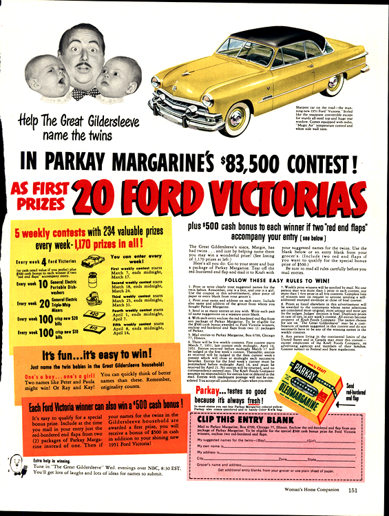 Ford 1951 Parkay Margarine 0001