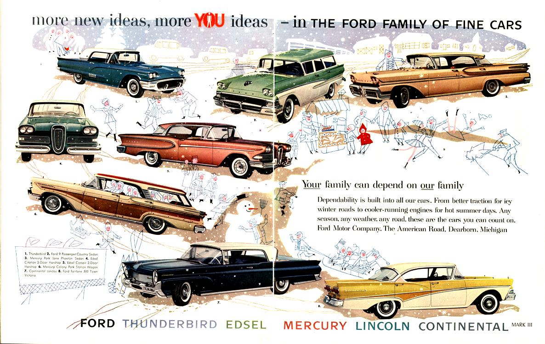 Ford 1958 Edsel Lincoln Mercury Merge 0001