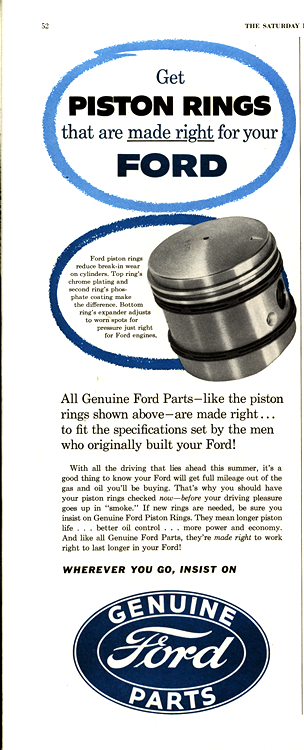 Ford Piston Rings 1954 0001