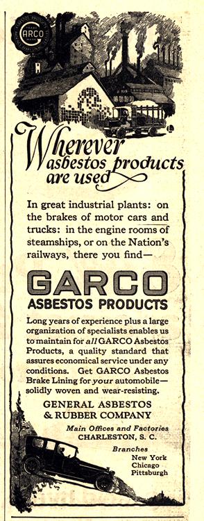 Garco Brake Lining 1922 0001
