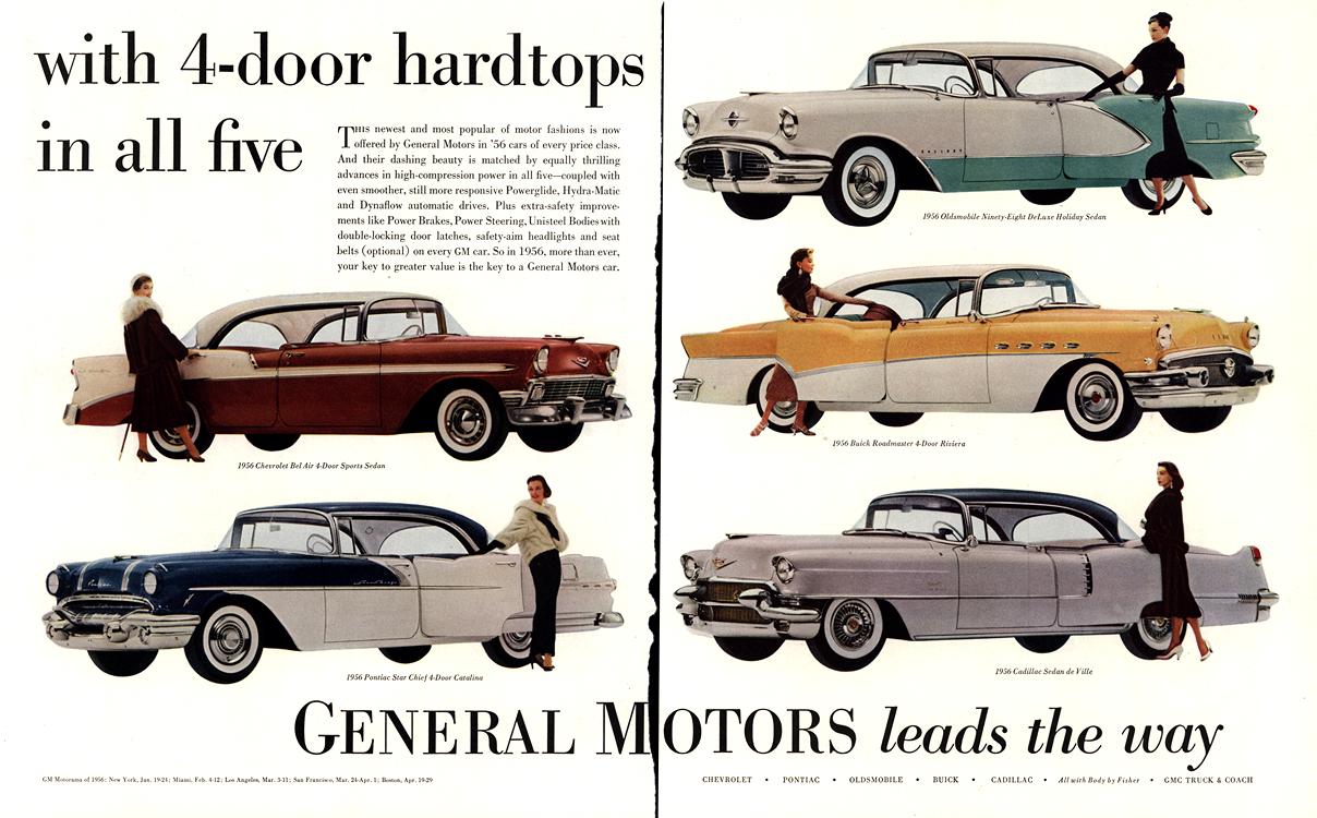 General Motors 1956 Chevrolet Pontiac Oldsmobile Buick Cadillac Merge 0001