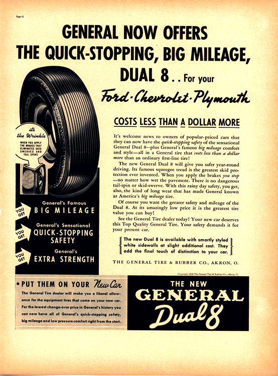General Tires 1938 Ford, Chevrolet, Plymouth 0001