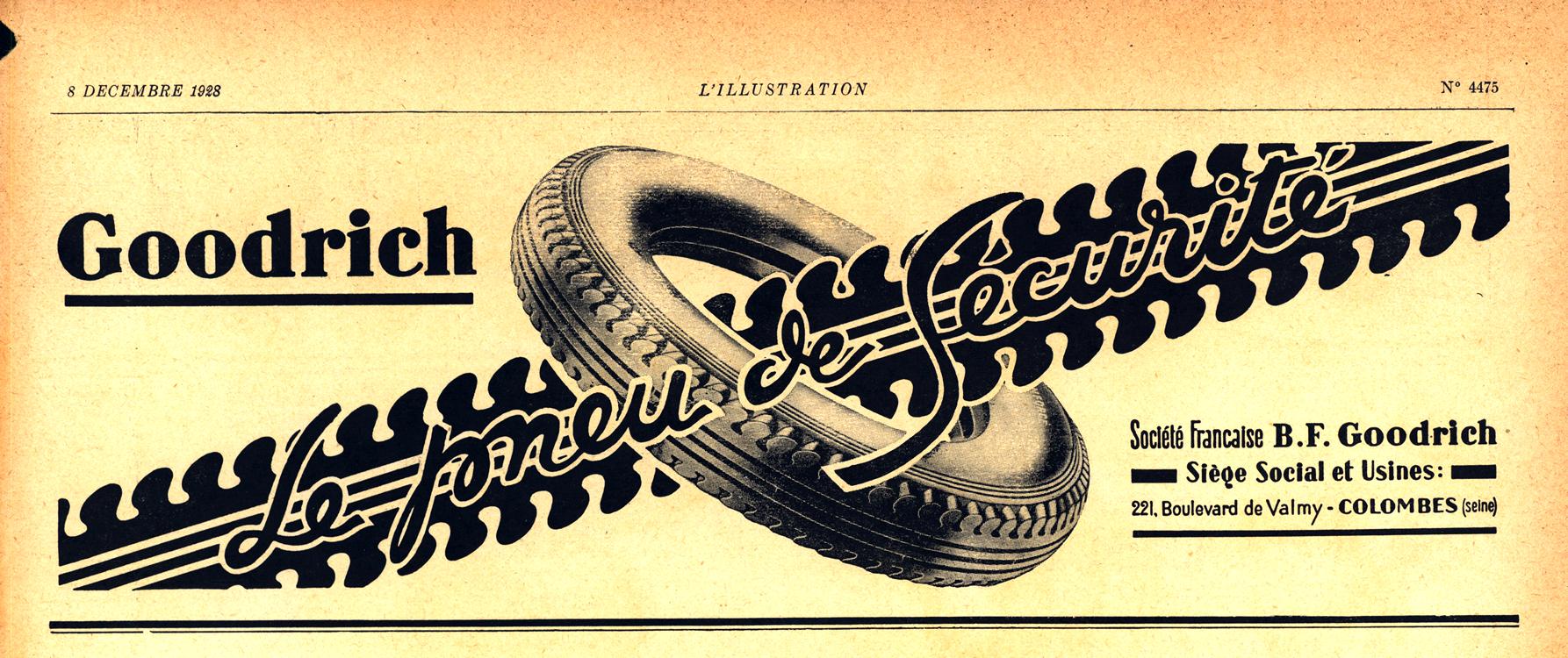 B. F. Goodrich Tires 1928 0001