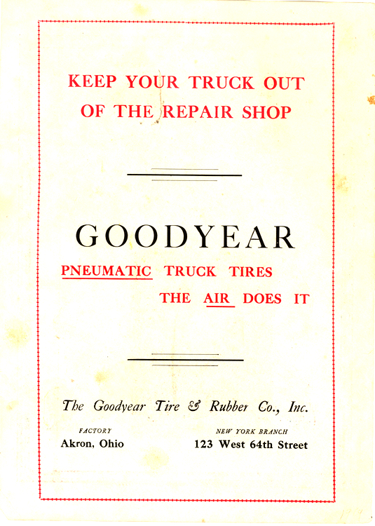 Goodyear Tires 1919 0001