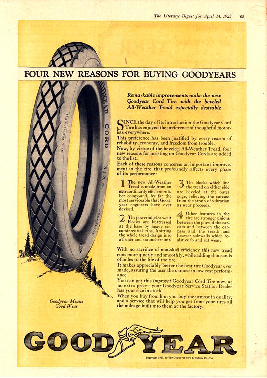Goodyear Tires 1923 0001