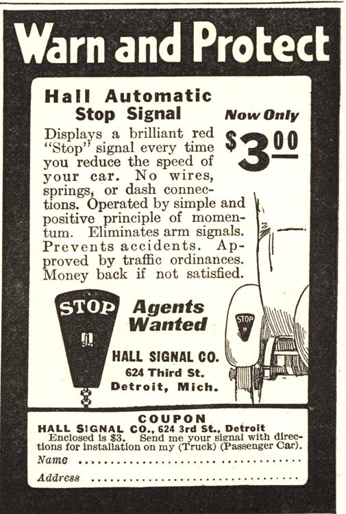 Hall Warning Sign 1921 0002