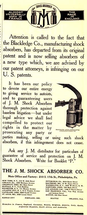 J.M. Shock Absorbers 1913 0001