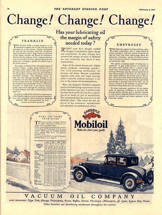 Mobiloil 1927 Chevrolet Franklin 0001