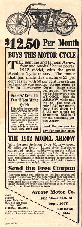 Motorcycles Arrow 1912 0001