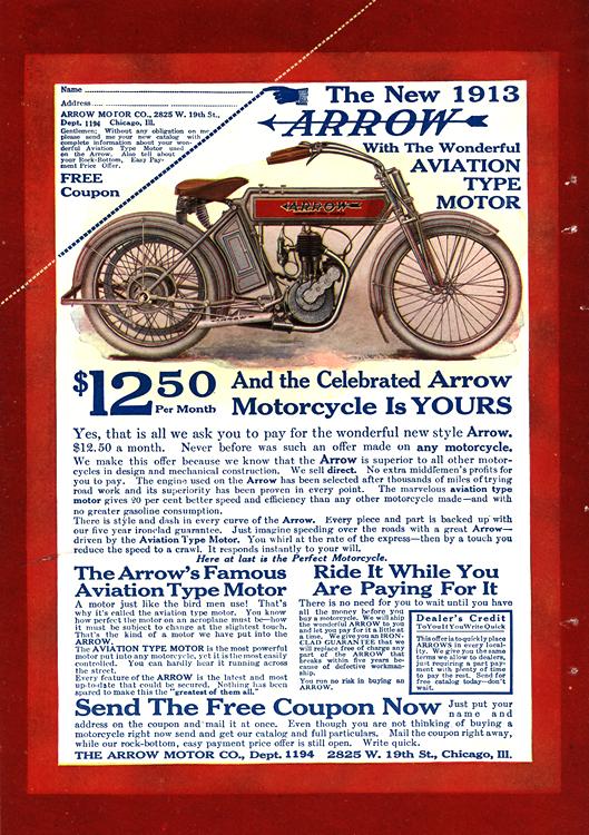 Motorcycles Arrow 1913 0001