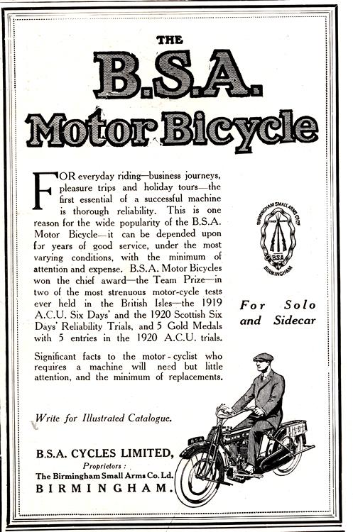 Motorcycles BSA 1920 0001
