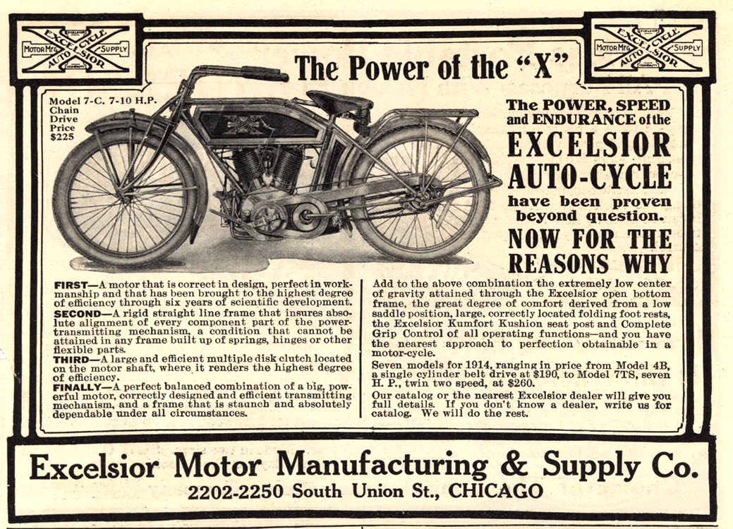 Motorcycles Excelsior 1914 0001