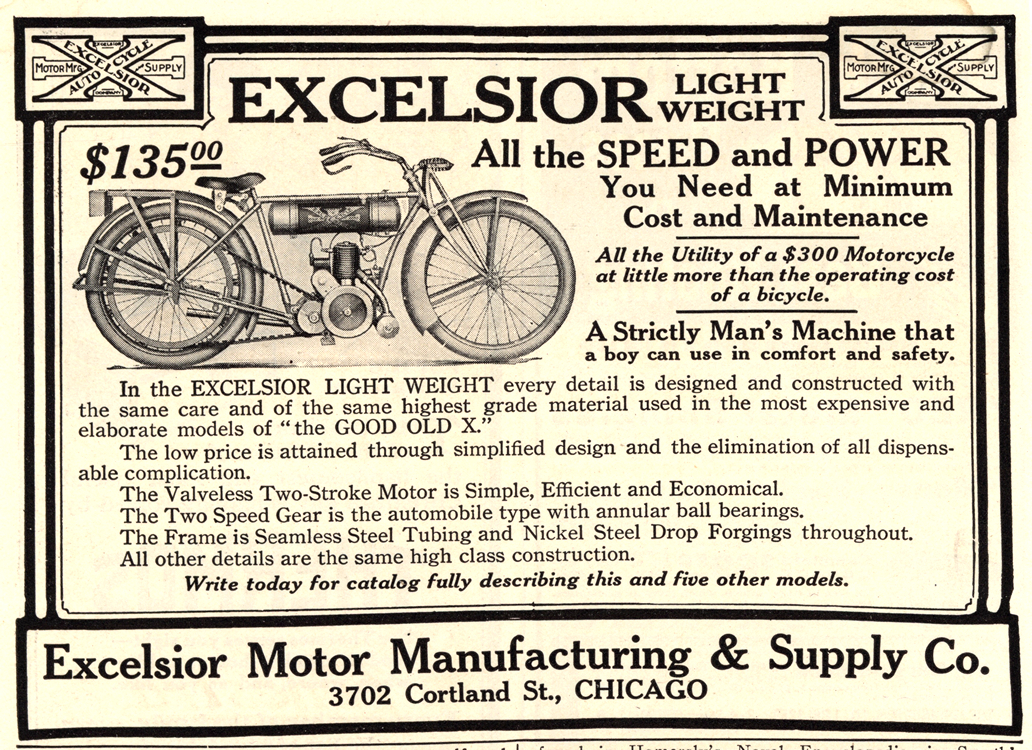 Motorcycles Excelsior 1915 0001