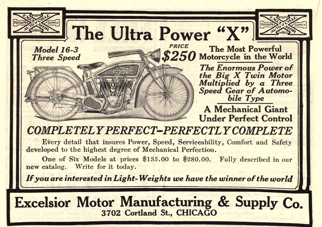 Motorcycles Excelsior 1916 0001
