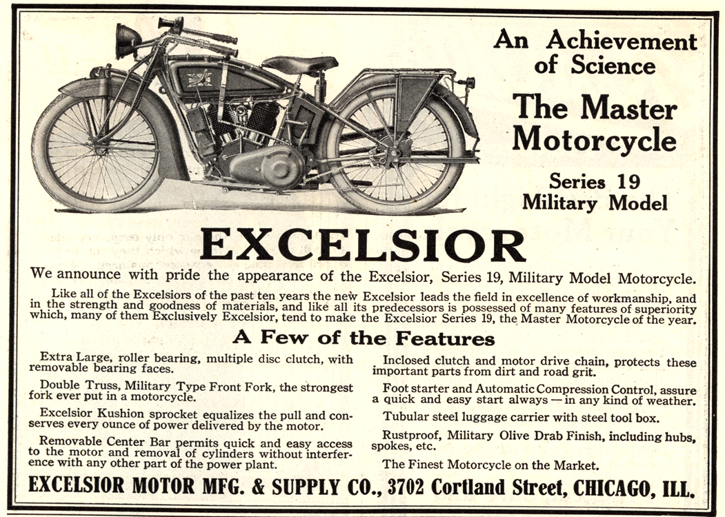 Motorcycles Excelsior 1919 0001
