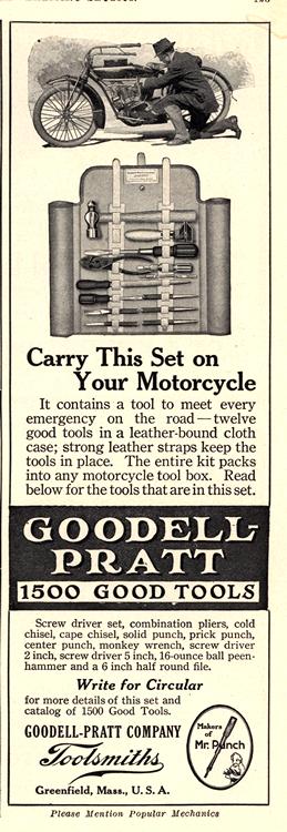 Motorcycles Goodell Pratt Tools 1916 0001