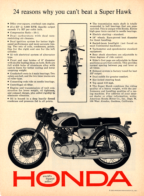Motorcycles Honda 1963 0001