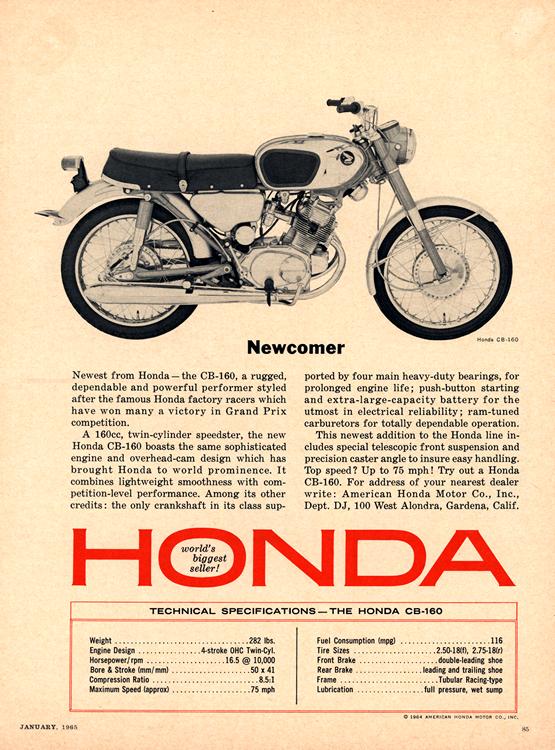 Motorcycles Honda 1965 0001