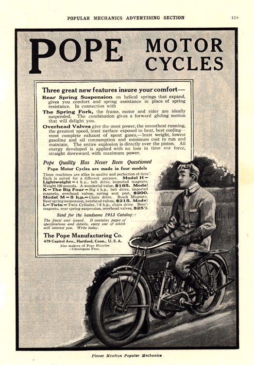 Motorcycles Pope 1913 0001