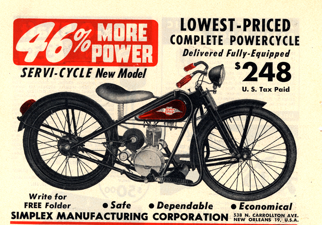 Motorcycles Servi-Cycle 1949 0001