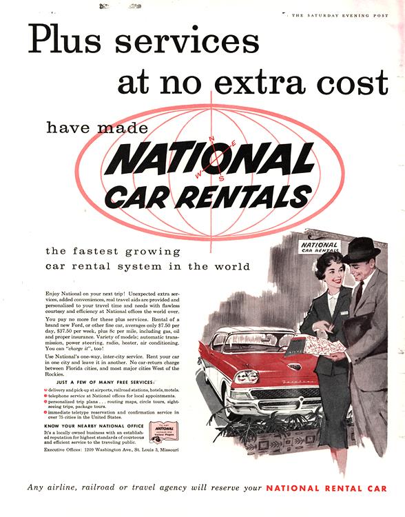 National Car Rental 1958 0001