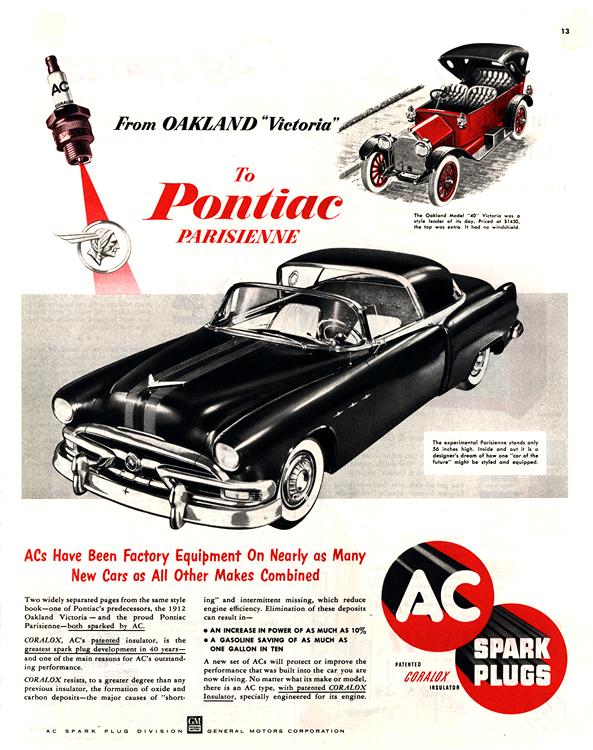 Pontiac 1953 AC Spark Plugs 0001