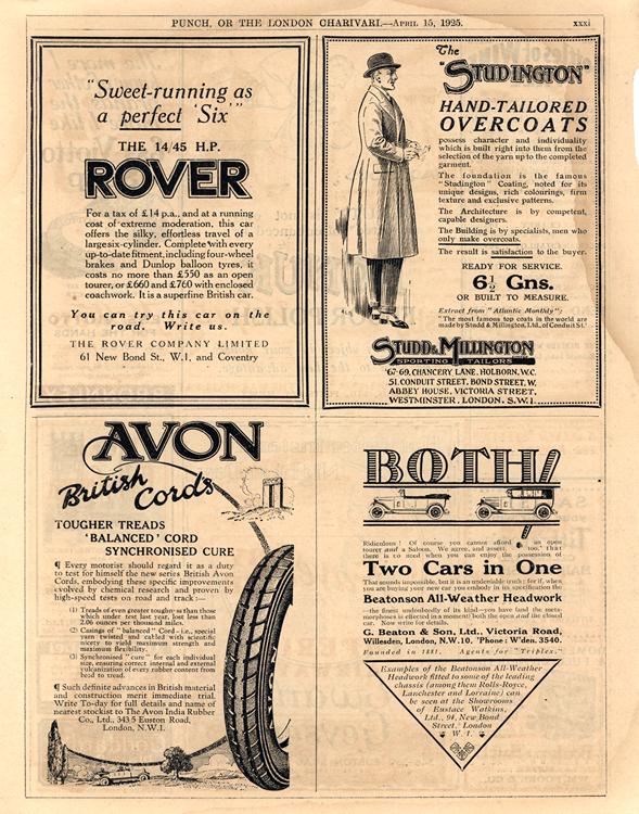 Rover 1925 Avon Tires - Beaton 0001