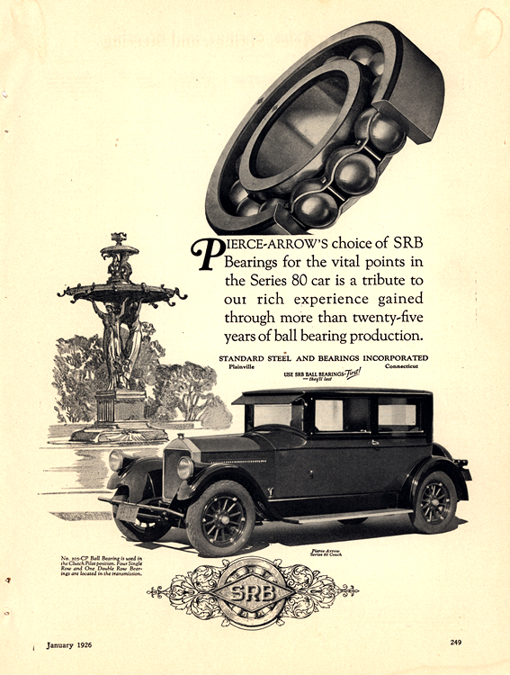 SRB Bearings 1926 Pierce Arrow 0001