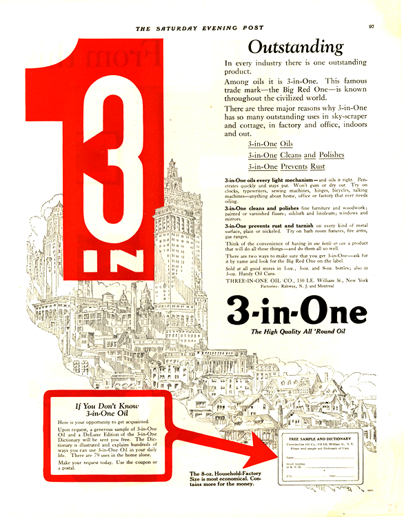 Three In One Oil 1924 0001