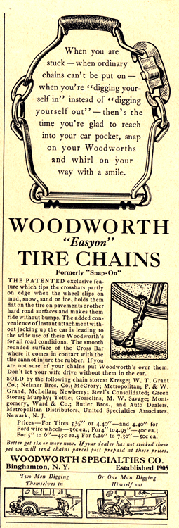 Woodworth Tire Chains 1928 0001